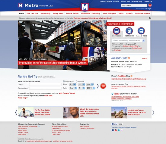 Home Page for Metro St. Louis by TOKY