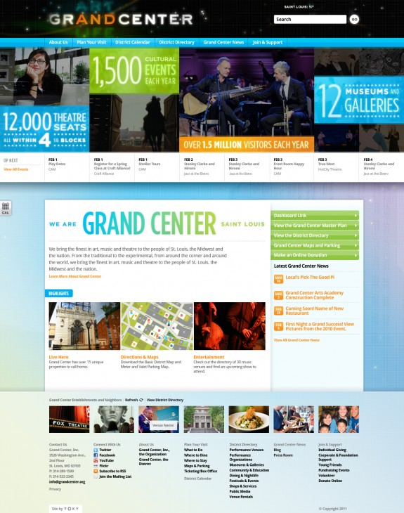 Grand Center homepage