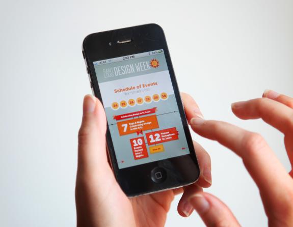 STL Design Week App Home Screen