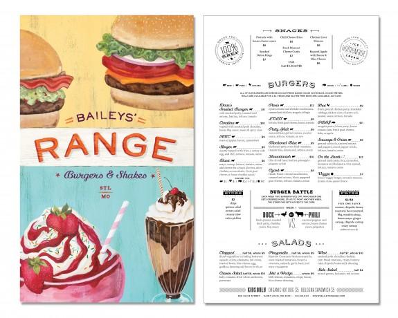 Baileys' Range Menu Interior by TOKY