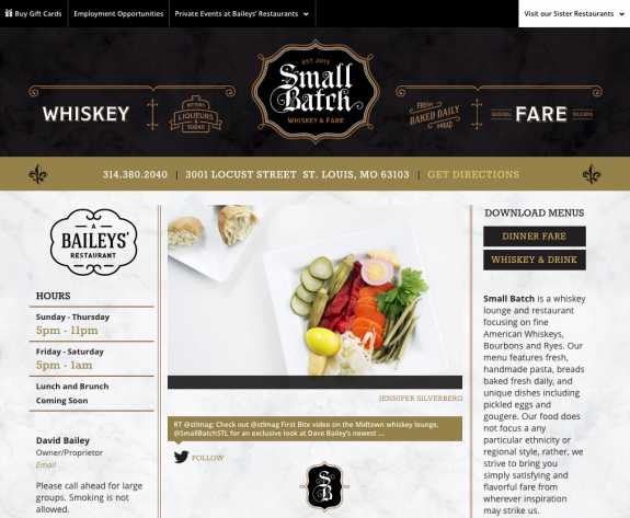 Small Batch Website