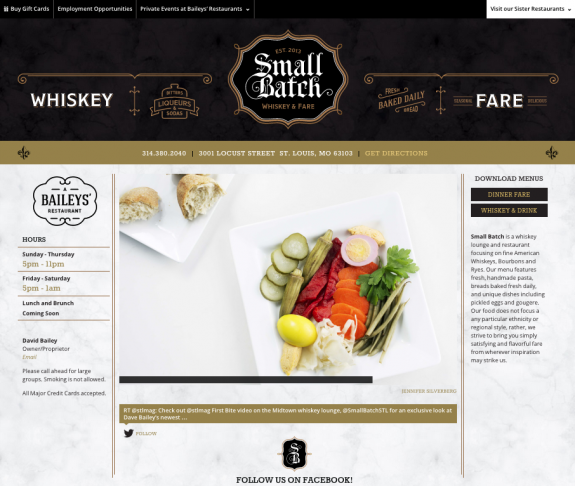Small Batch Website