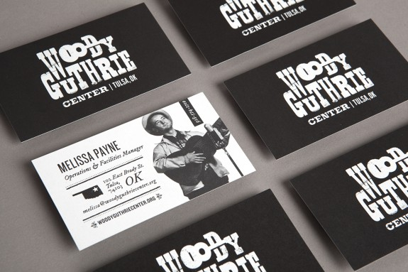 Woody Guthrie Business Cards