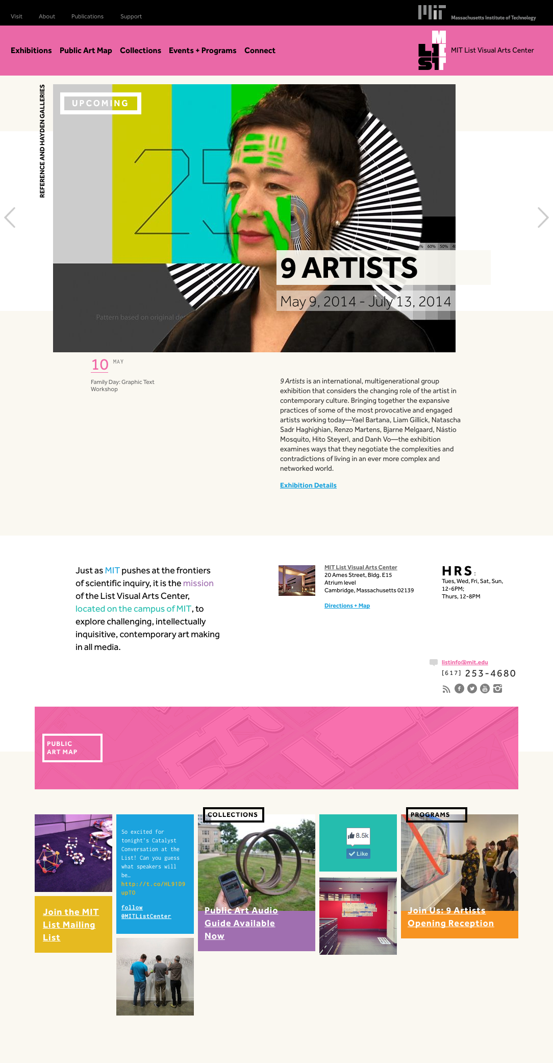 MIT List Visual Arts Center Home Page by TOKY