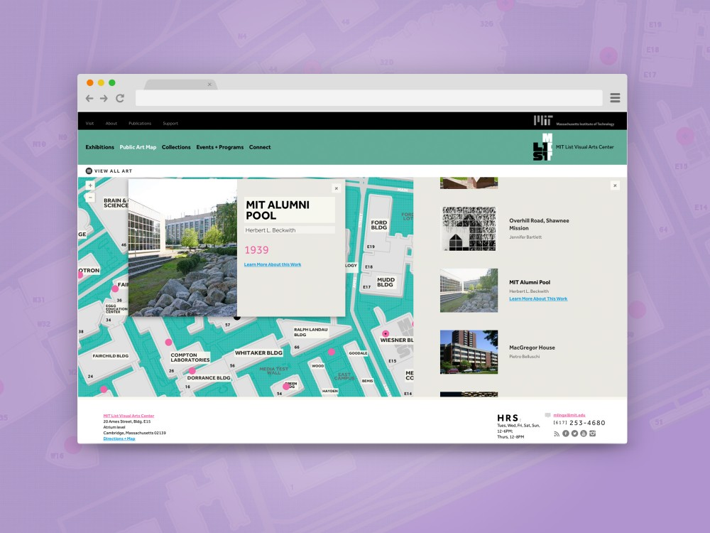 MIT List Visual Arts Center Website, Desktop by TOKY