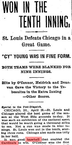 Post-Dispatch StL Cardinals 1900
