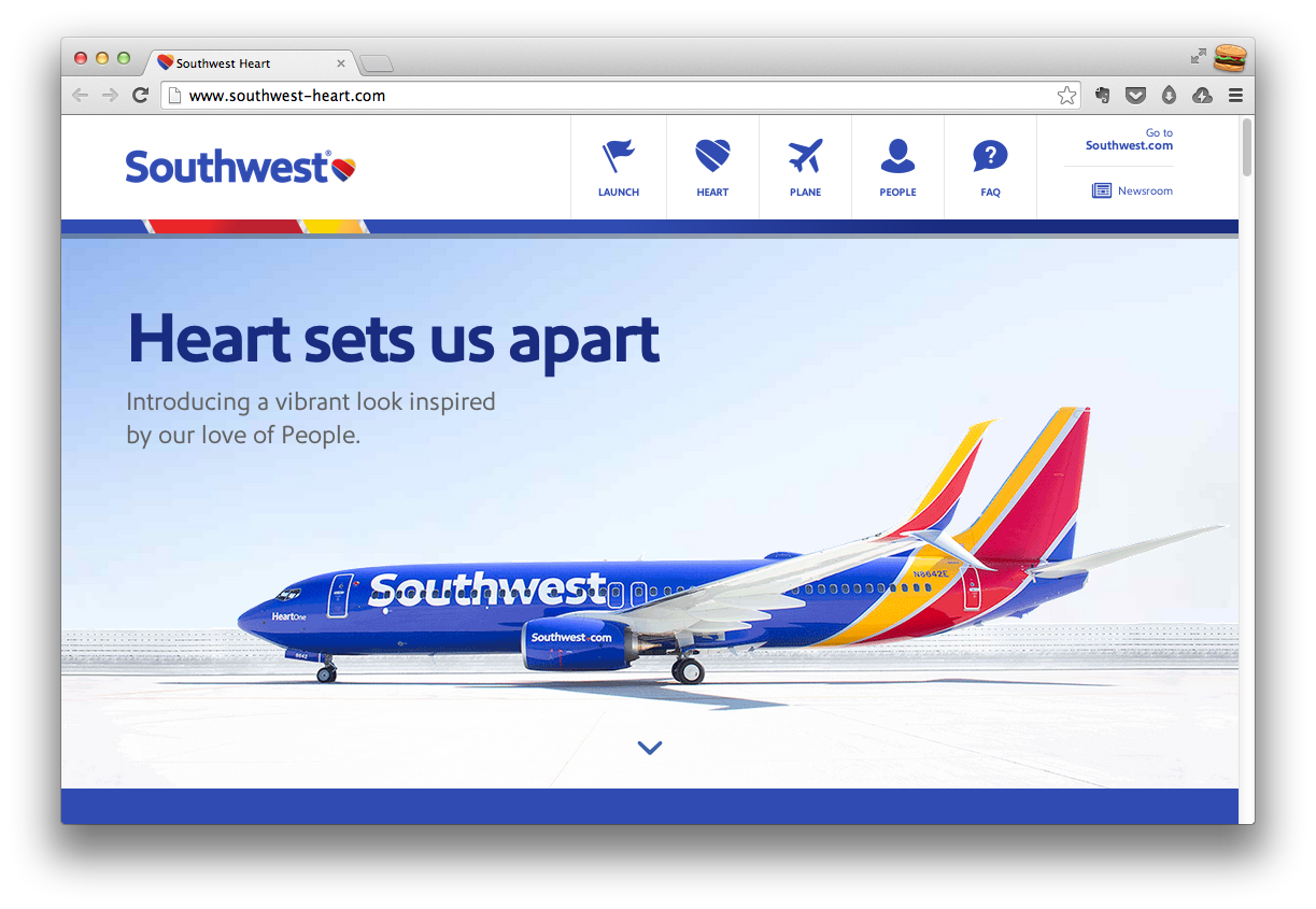 Southwest Airlines Brand Relaunch Microsite