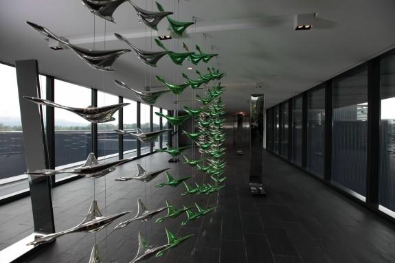 Oregon ducks sculpture