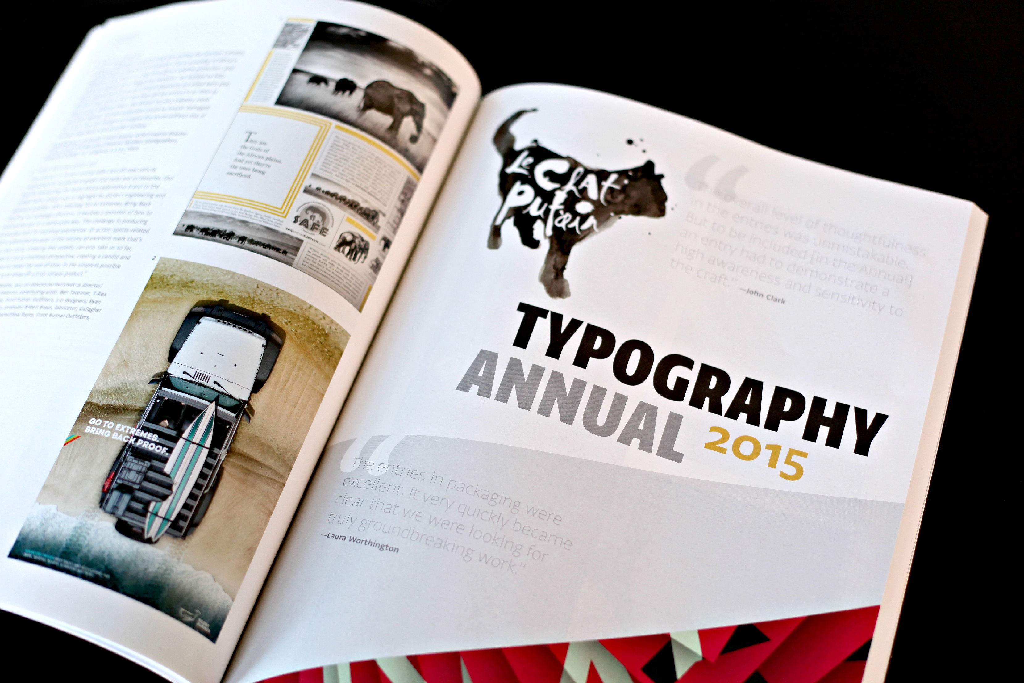 Le Chat Putain featured in CA Typography Annual 2015