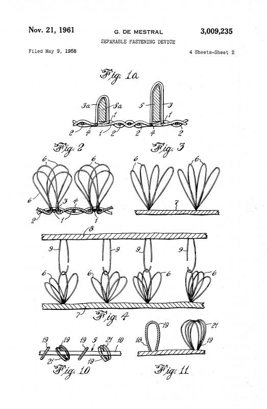 velcro patent design