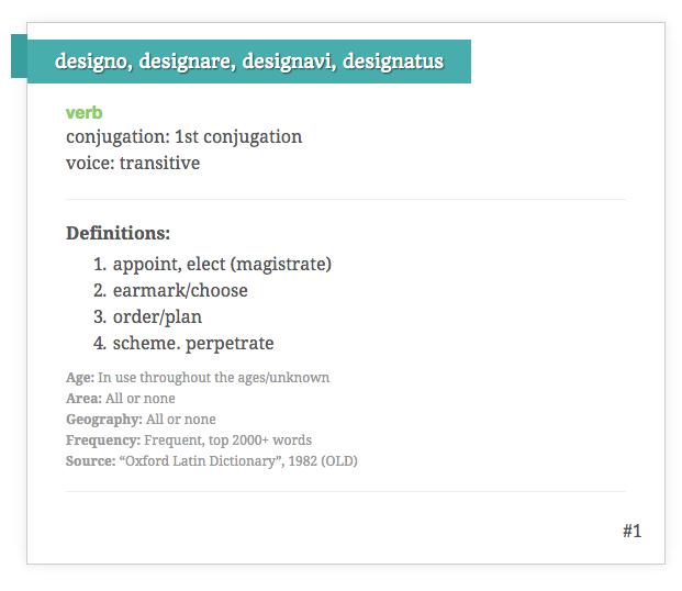 Latin definintion of design