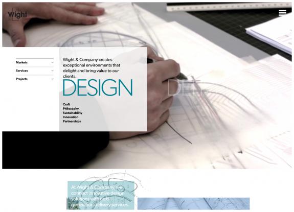Wight & Company Design Menu
