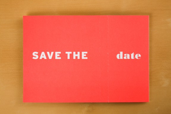 RA Save the Date unopened