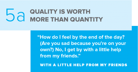 Social Media Counts Quality Over Quantity