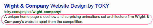 Meta Description for Architecture Project Page
