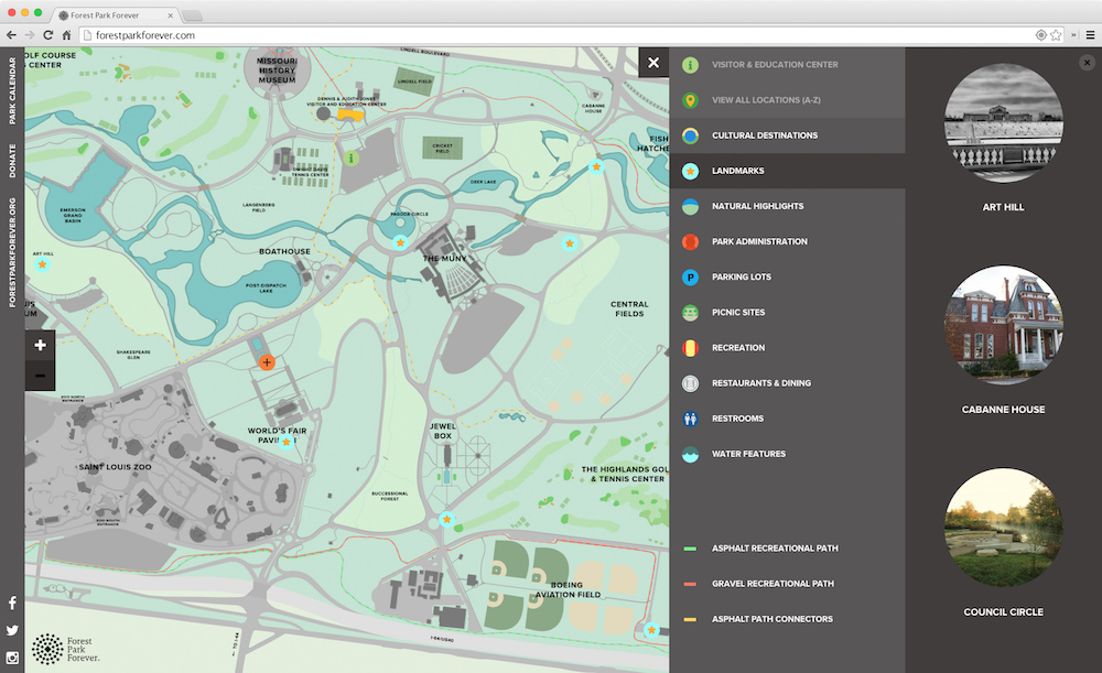 Forest Park Map Responsive