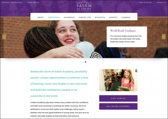 Salem Academy Website Admissions