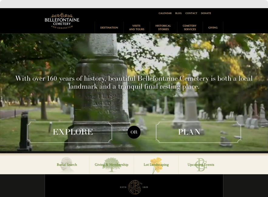 Screenshot of Bellefontaine's Home Page shown on desktop browser