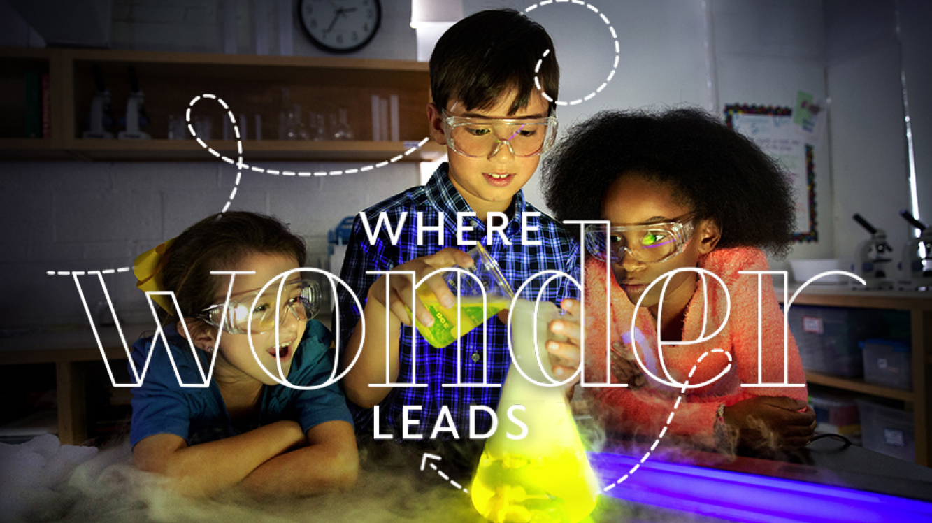 "Community School Web Slider: ""Where Wonder Leads"""