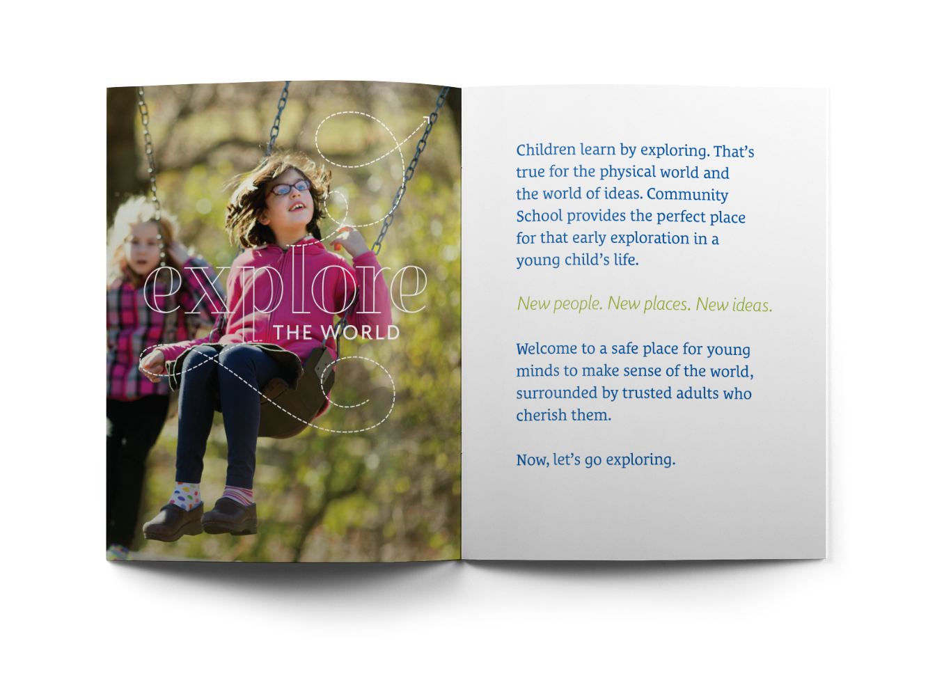 Community School Admissions Booklet Spread