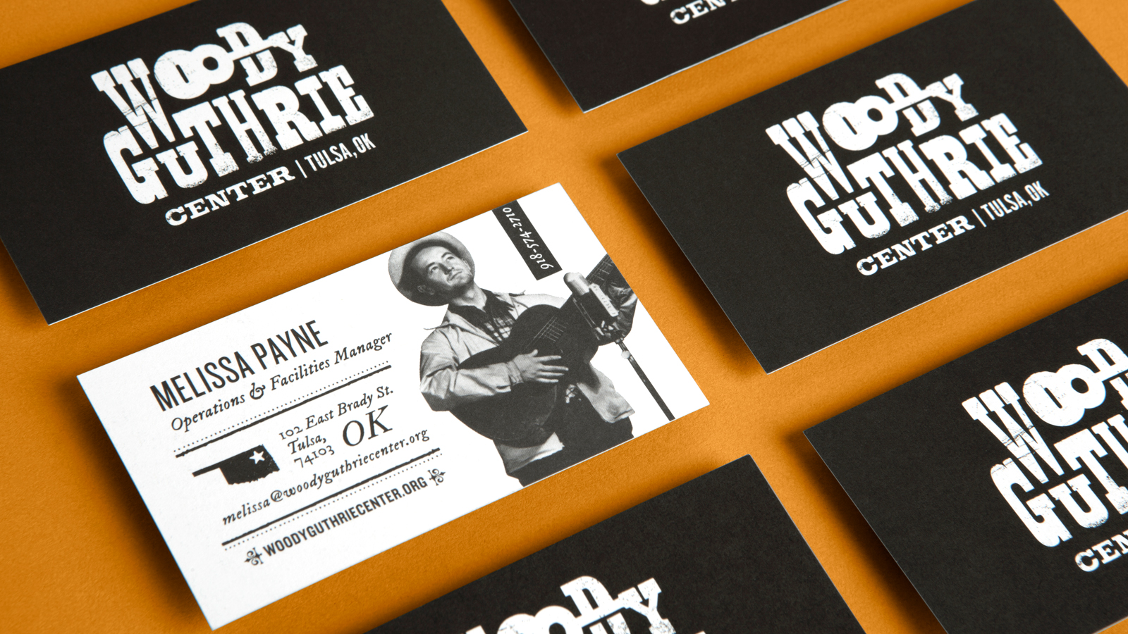 Woody Guthrie Center – Identity & Website by TOKY