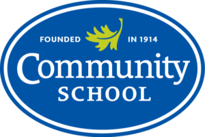 "Community School Refreshed Logo: ""Community School, Founded in 1914"""