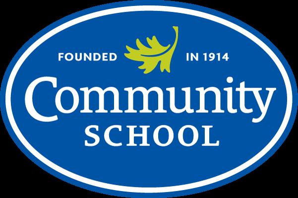 "Community School Refreshed Logo: ""Community School, Founded in 1914"""