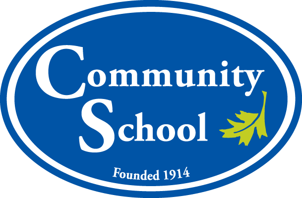"Community School's Previous Logo Iteration: ""Community School: Founded in 1914"""