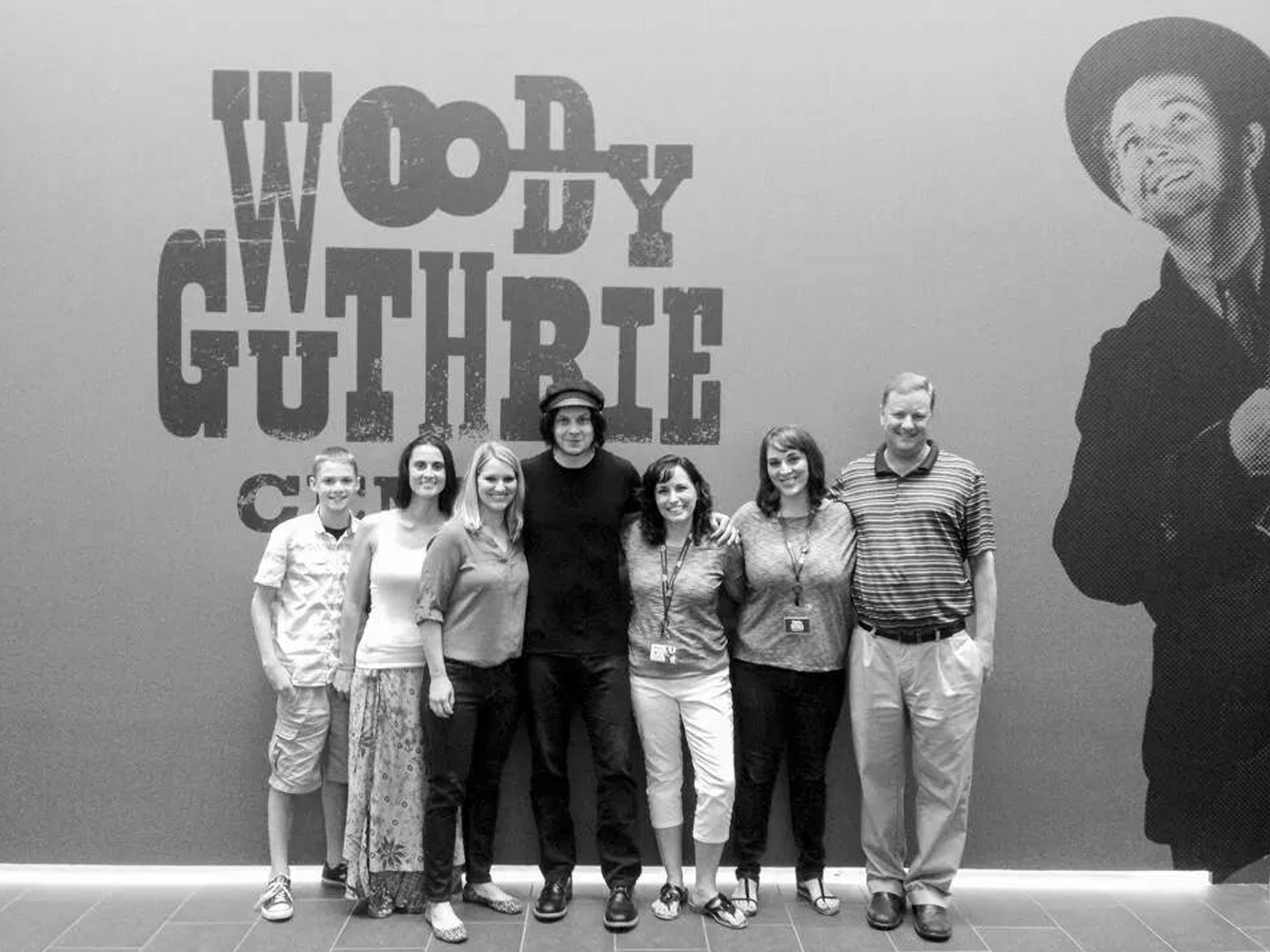 Photo of Jack White at Woody Guthrie Center