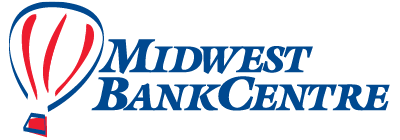 Midwest BankCentre previous logo with balloon