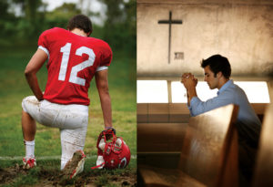 Chaminade student photos: football and prayer