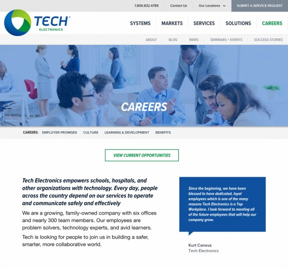 Tech Electronics Careers Page by TOK