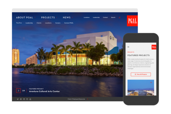 PGAL Site Redesign by TOKY