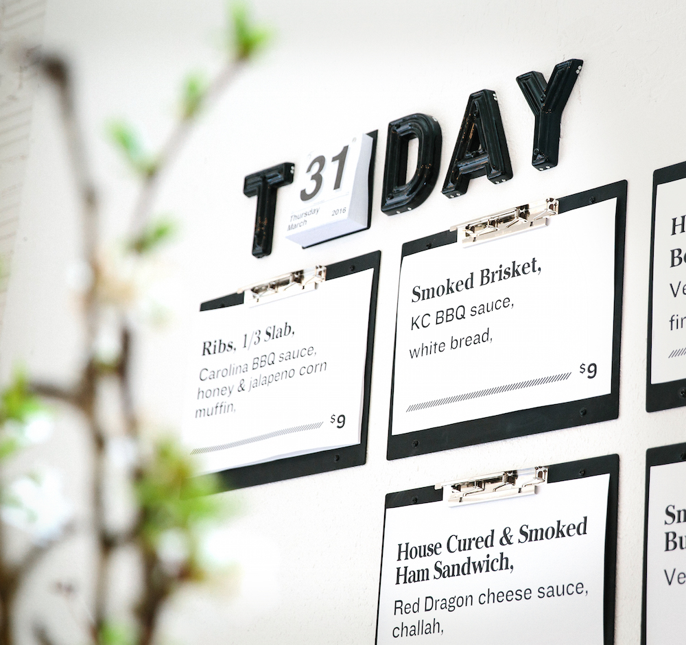 Shift, Test Kitchen & Takeout Menu Wall by TOKY