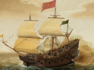 Painting of ship from National Gallery of Art Dutch Collection