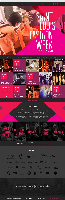 Desktop screenshot of Saint Louis Fashion Week Home Page