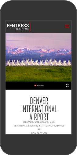 Fentress Architects Mobile Project Page: Denver International Airport