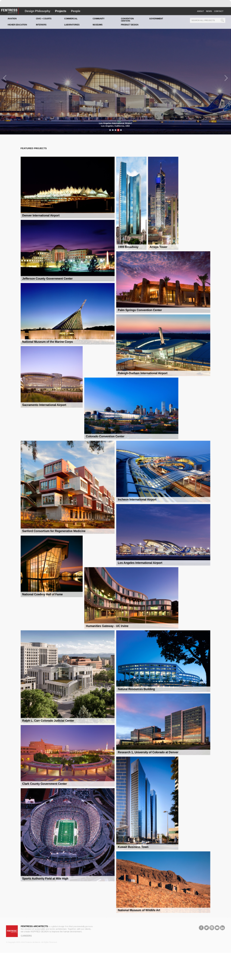 Screenshot of Fentress Architects Project Landing Page