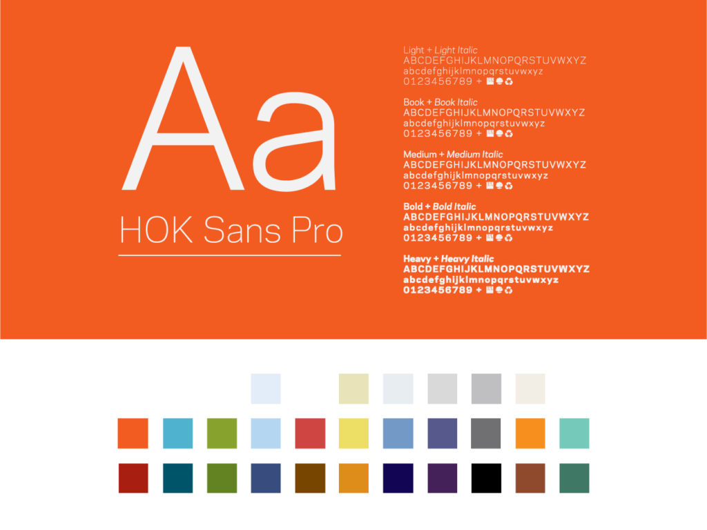 Image showing HOK's brand guidelines