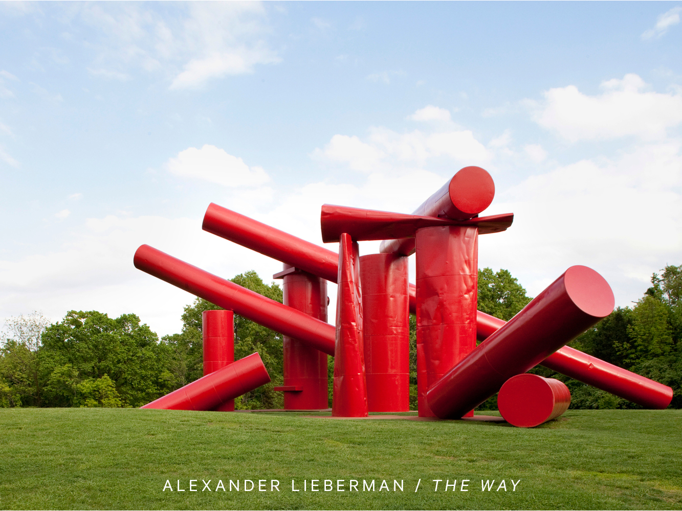 "Photo of Alexander Lieberman's sculpture, ""The Way"""