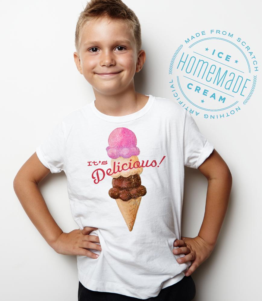 """Baileys' Range """"It's Delicious"""" Ice Cream T-Shirt"""