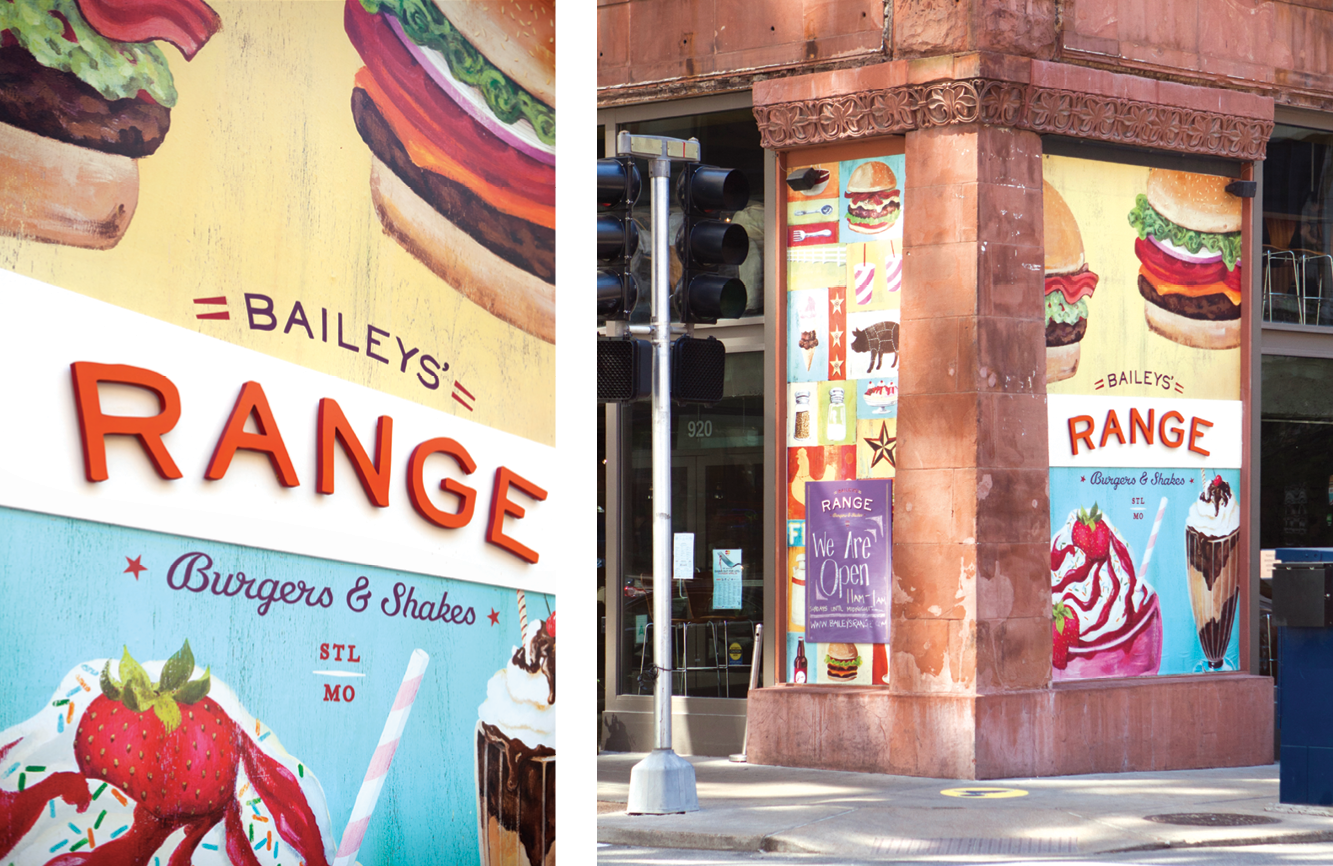 Exterior Signage for Baileys' Range