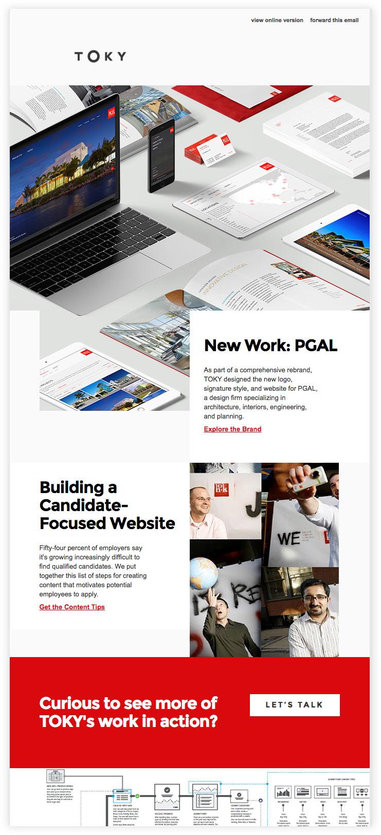 Screenshot of TOKY's Architecture Branding Newsletter