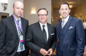 Photo of Jay David, Eric Thoelke, and Alec Gleason at the SMPS Society Gala, 2016