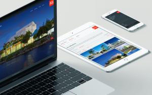Mockups of PGAL Website Design