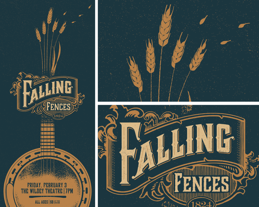 Falling Fences Poster