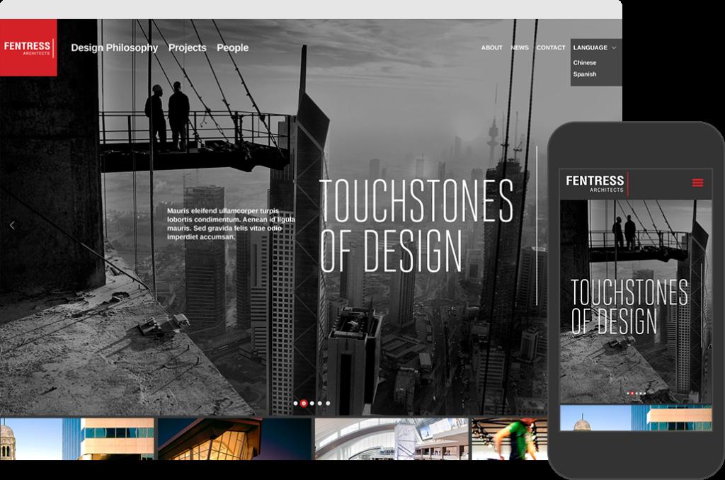 Fentress Website Mockup