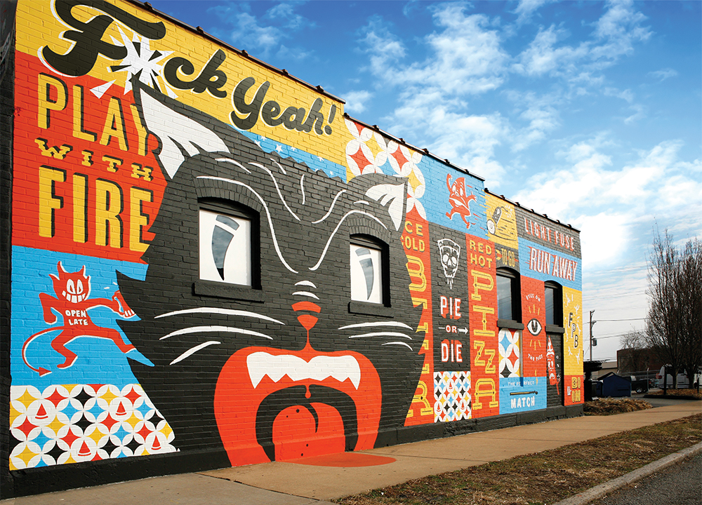 Firecracker Pizza & Beer Mural
