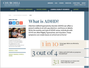 ADHD Resource Guide from Churchill's Website