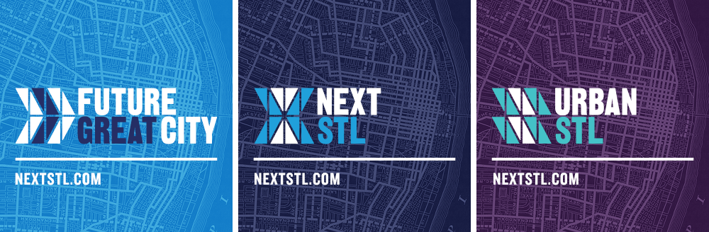 Next STL, Future Great City, Urban STL Logos